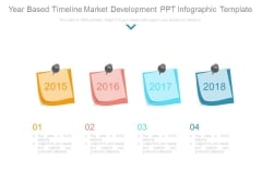 Year Based Timeline Market Development Ppt Infographic Template