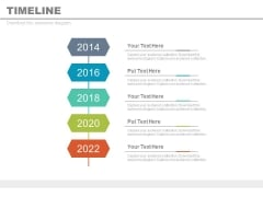 Year Based Vertical Timeline For Business Vision Powerpoint Slides