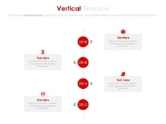 Year Based Vertical Timeline With Company Profile Powerpoint Slides
