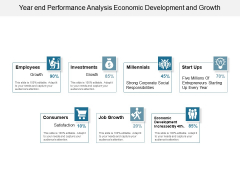 Year End Performance Analysis Economic Development And Growth Ppt PowerPoint Presentation Infographic Template Shapes