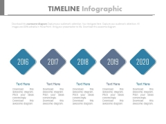 Year Tags From 2016 To 2020 For Business Planning Powerpoint Slides