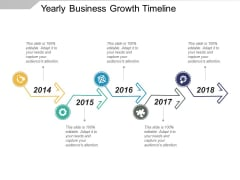 Yearly Business Growth Timeline Ppt PowerPoint Presentation File Graphics Example