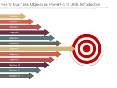 Yearly Business Objectives Powerpoint Slide Introduction