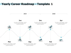 Yearly Career Roadmap 2019 To 2020 Ppt PowerPoint Presentation Styles Visual Aids