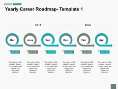 Yearly Career Roadmap Ppt PowerPoint Presentation Layouts Master Slide