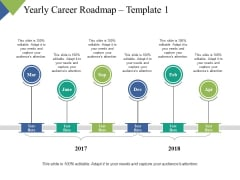 Yearly Career Roadmap Year Process Ppt PowerPoint Presentation Show Example Introduction