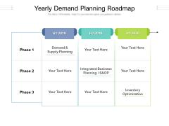 Yearly Demand Planning Roadmap Ppt PowerPoint Presentation Model Smartart PDF
