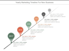 Yearly Marketing Timeline For New Business Ppt PowerPoint Presentation Slides