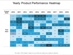 Yearly Product Performance Heatmap Ppt PowerPoint Presentation Outline Shapes