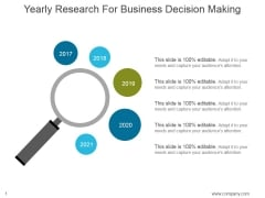 Yearly Research For Business Decision Making Ppt PowerPoint Presentation Show