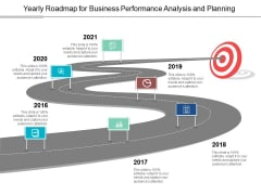 Yearly Roadmap For Business Performance Analysis And Planning Ppt PowerPoint Presentation Inspiration Layouts