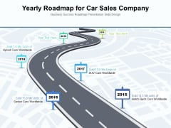 Yearly Roadmap For Car Sales Company Ppt PowerPoint Presentation File Portfolio