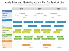 Yearly Sales And Marketing Action Plan For Product Line Inspiration