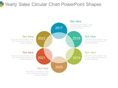 Yearly Sales Circular Chart Powerpoint Shapes