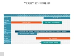 Yearly Scheduler Ppt PowerPoint Presentation Topics