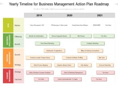 Yearly Timeline For Business Management Action Plan Roadmap Diagrams
