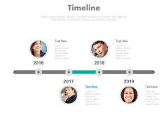 Yearly Timeline With Business People Photos Powerpoint Slides