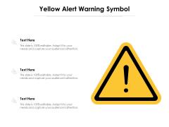 Yellow Alert Warning Symbol Ppt PowerPoint Presentation Portfolio Slide Portrait PDF