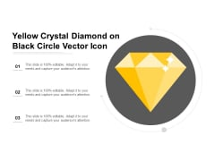 Yellow Crystal Diamond On Black Circle Vector Icon Ppt PowerPoint Presentation Ideas Mockup