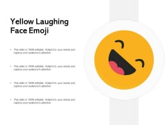 Yellow Laughing Face Emoji Ppt PowerPoint Presentation Ideas