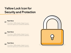 Yellow Lock Icon For Security And Protection Ppt PowerPoint Presentation Infographics Tips PDF