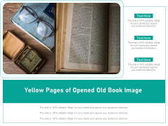 Yellow Pages Of Opened Old Book Image Ppt PowerPoint Presentation Gallery Example Topics PDF