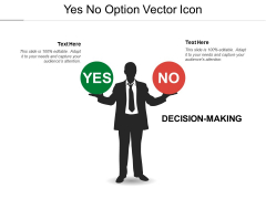 Yes No Option Vector Icon Ppt PowerPoint Presentation Pictures Good
