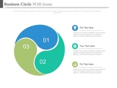 Ying Yang Style Circle Diagram Powerpoint Slides