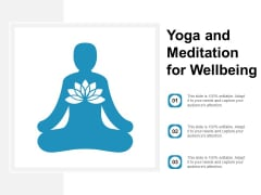 Yoga And Meditation For Wellbeing Ppt Powerpoint Presentation Outline Images