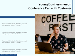 Young Businessman On Conference Call With Customer Ppt PowerPoint Presentation Infographic Template Pictures PDF