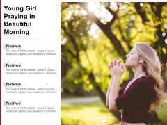 Young Girl Praying In Beautiful Morning Ppt Powerpoint Presentation Slides Inspiration