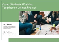 Young Students Working Together On College Project Ppt PowerPoint Presentation Gallery Example PDF