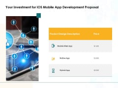 Your Investment For IOS Mobile App Development Proposal Ppt PowerPoint Presentation Inspiration Portrait