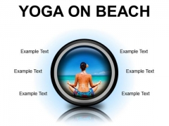 Yoga On Beach Health PowerPoint Presentation Slides Cc