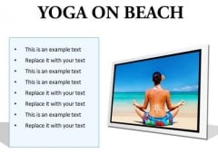 Yoga On Beach Health PowerPoint Presentation Slides F