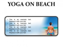 Yoga On Beach Health PowerPoint Presentation Slides R