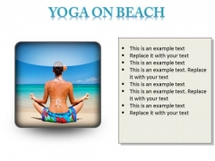 Yoga On Beach Health PowerPoint Presentation Slides S