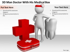 Young Business People Doctor With His Medical Box PowerPoint Templates Ppt Backgrounds For Slides