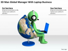 Young Business People Manager With Laptop Free PowerPoint Templates