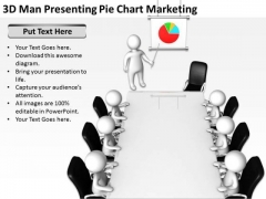 Young Business People Pie Chart Marketing PowerPoint Templates Ppt Backgrounds For Slides