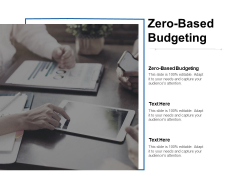 Zero Based Budgeting Ppt PowerPoint Presentation Pictures Ideas Cpb