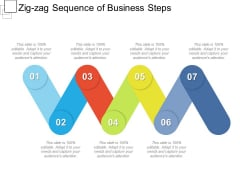Zig Zag Sequence Of Business Steps Ppt PowerPoint Presentation Gallery Show PDF