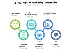 Zig Zag Steps Of Marketing Action Plan Ppt PowerPoint Presentation Gallery Slides PDF