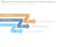 Zigzag Arrows For Marketing Campaigns Ppt Examples Professional
