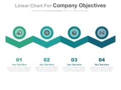Zigzag Linear Chart For Strategic Management Process Powerpoint Template