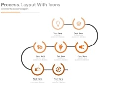 Zigzag Process Layout With Icons Powerpoint Slides