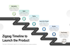 Zigzag Timeline To Launch The Product Ppt PowerPoint Presentation Slides Files