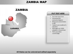 Zambia Country PowerPoint Maps