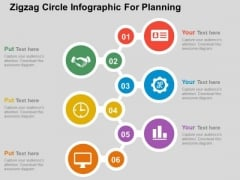 Zigzag Circle Infographic For Planning PowerPoint Template