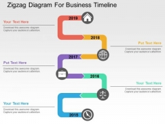 Zigzag Diagram For Business Timeline PowerPoint Templates